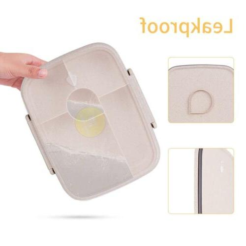 Leakproof Bento Box 5 Utensils Meal Container
