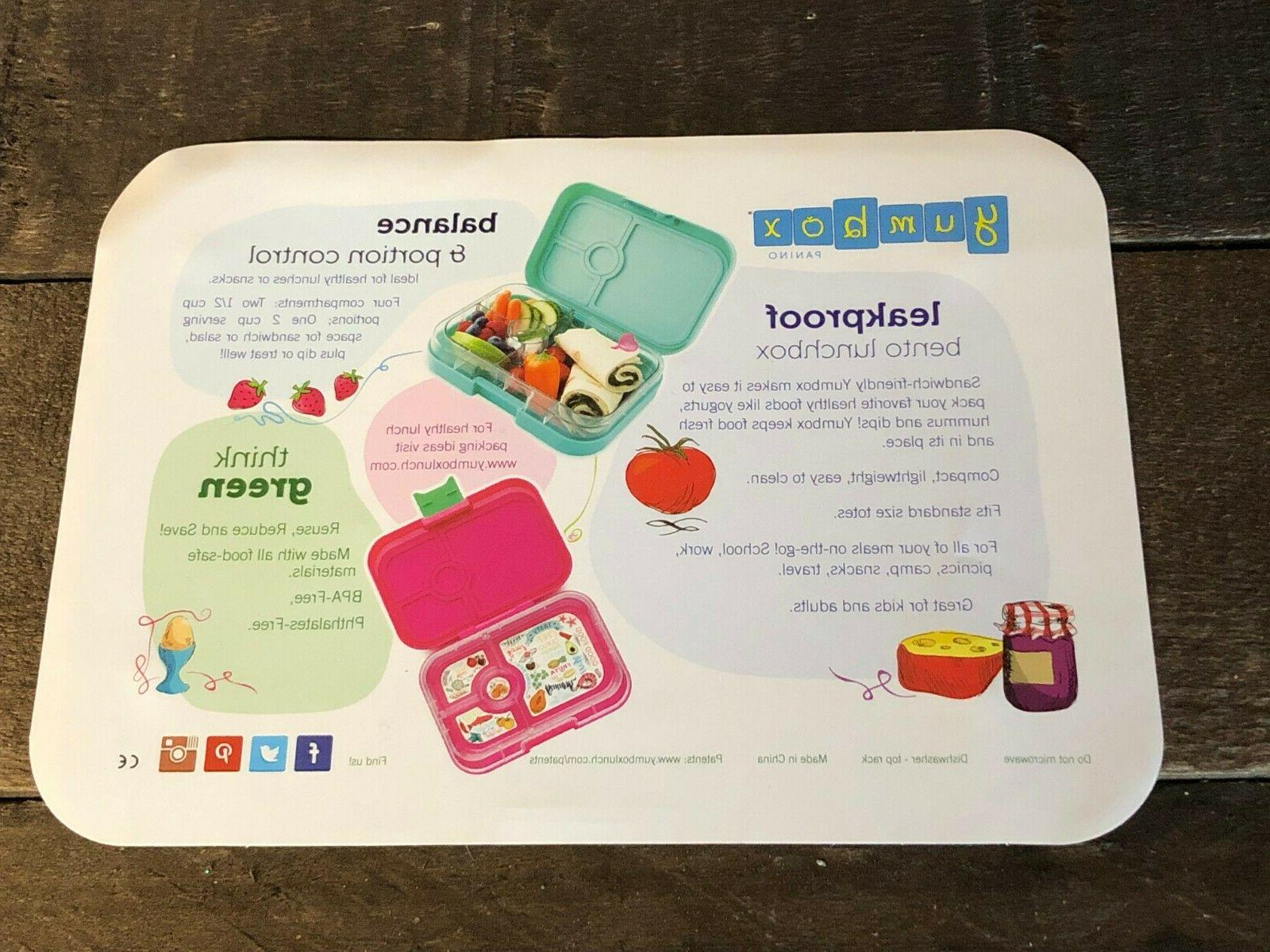 Yumbox Leakproof Bento Lunch Teal Light NEW