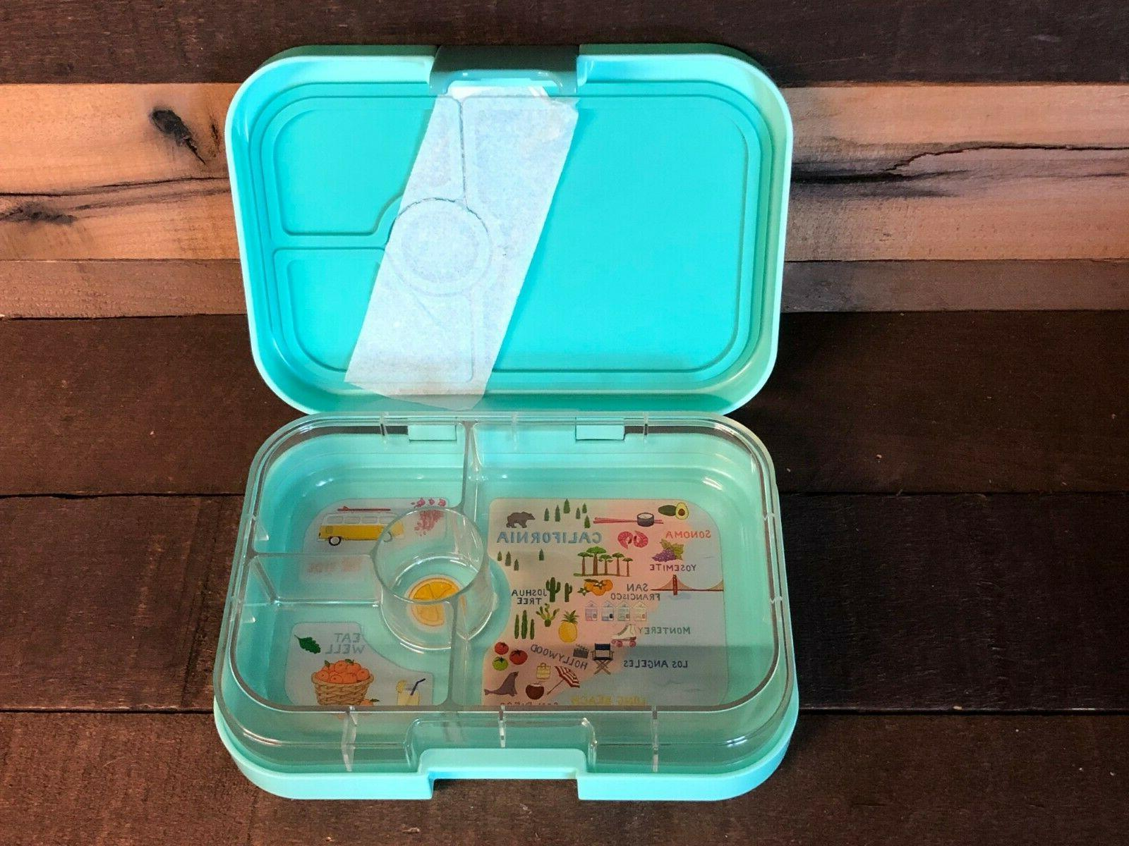 leakproof bento style lunch box container teal