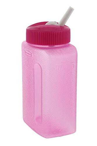 Rubbermaid Litterless w/Sipping Spout Reusable Water Bottles for & Adults - Free, Freezer & Safe - for Juices, Water, – 8.5oz,