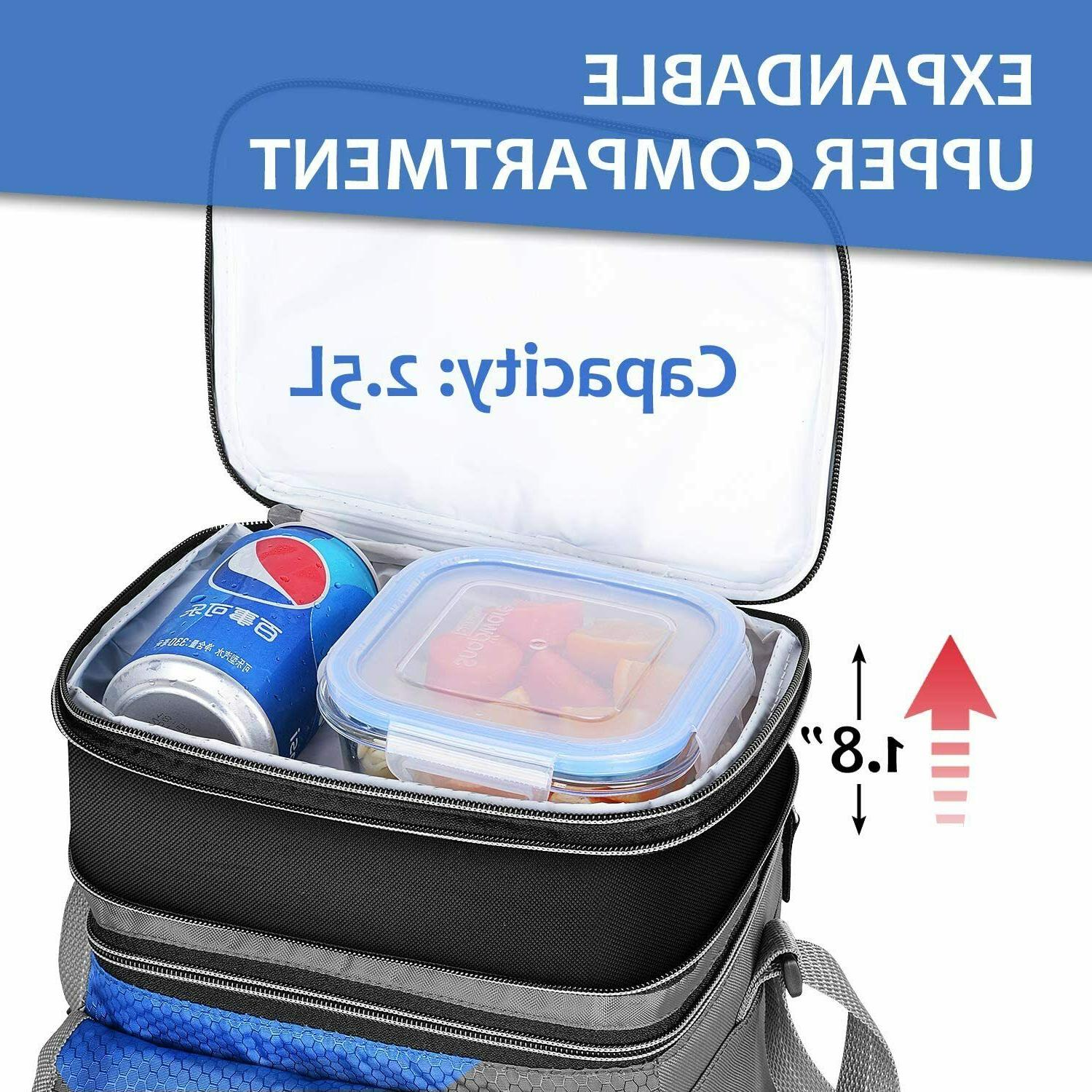 Lunch Bag Men,Leakproof Box for Adult&Kids, Cooler
