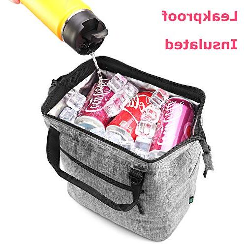 Lunch Box Insulated Lunch Tote Cooler with Pocket Shoulder For Meal Women Kids by