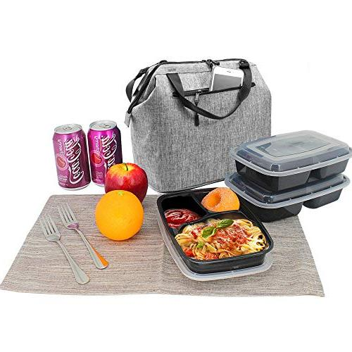 Lunch Box Lunch Cooler with YKK Pocket Meal Kids Adults by