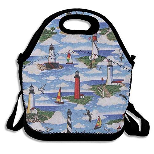 lunch bag lighthouses scene big
