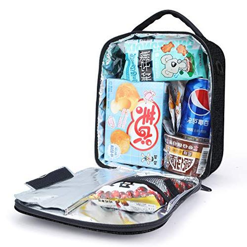 Lunch School Box|Durable Lunch Cooler with Strap Kids Men Girls & 2 Blue