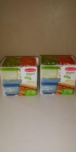 Rubbermaid --Lunch Blox Kids ---4 Piece Container Kit ---Blu
