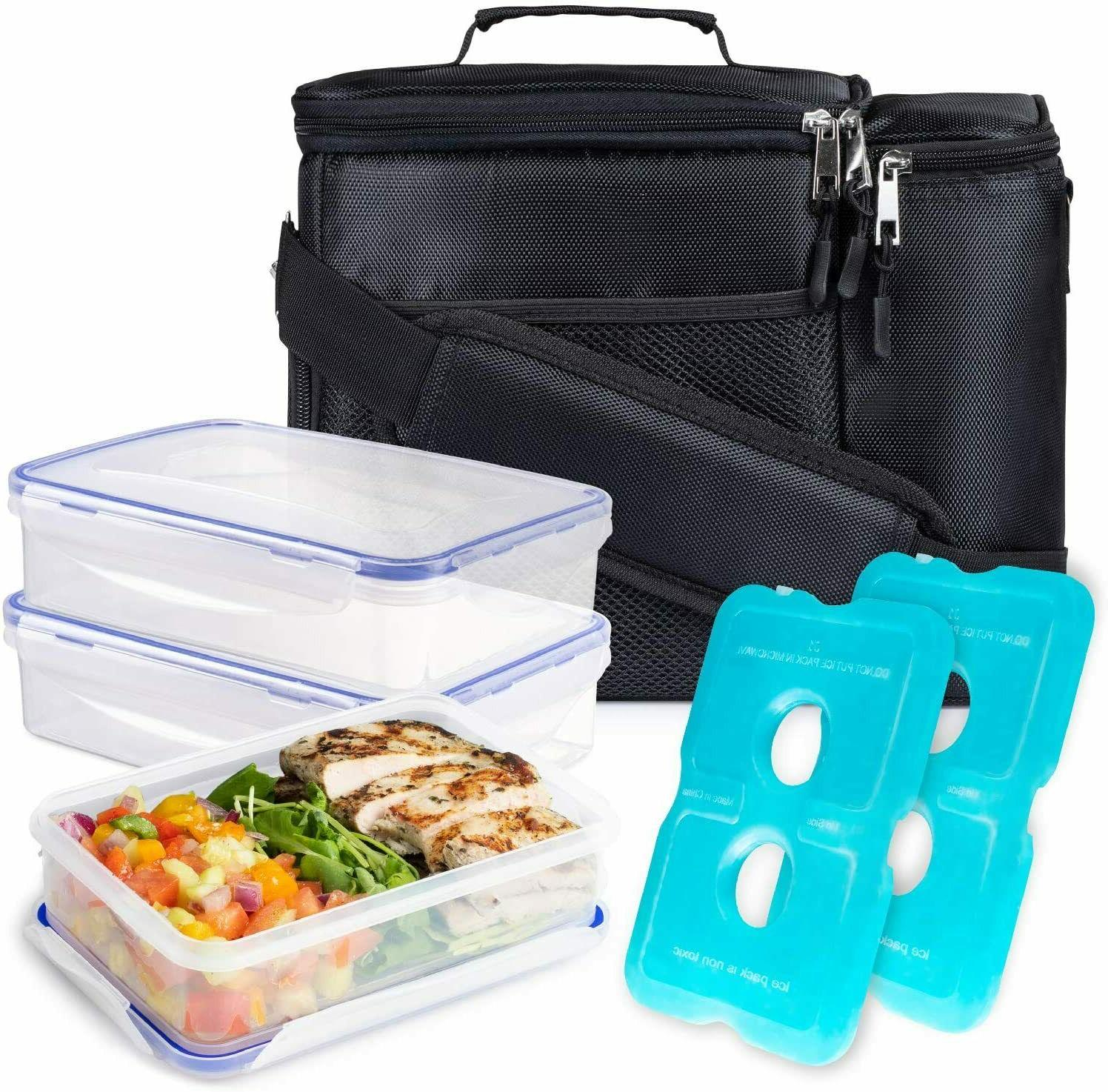 Lunch box For Men Insulated w/ compartment,