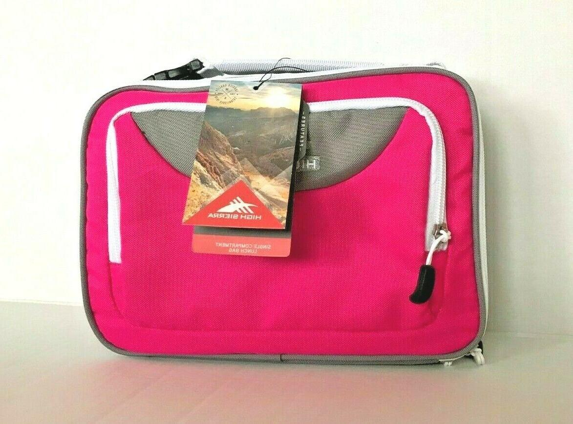 lunch box hot pink gray