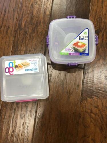 lunch cube klip to go salad containers