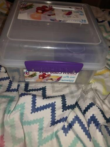 Sistema Cube To with Pot, - Clear & Purple