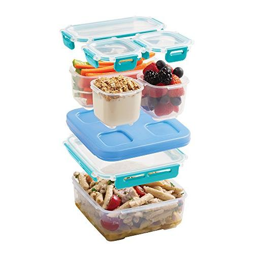 Rubbermaid Leak-Proof Entree Lunch Container Set, Blue