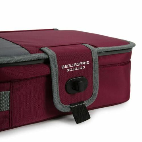Arctic Zone MAROON Insulated Lunch Bag Container Food Schoool W