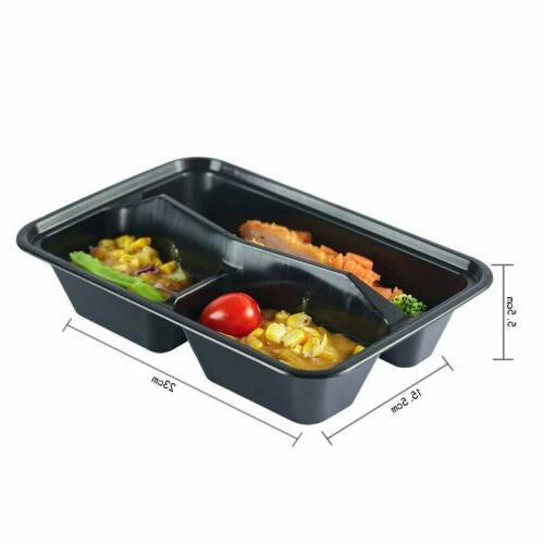 Meal Food Prep Storage Plastic Compartment With