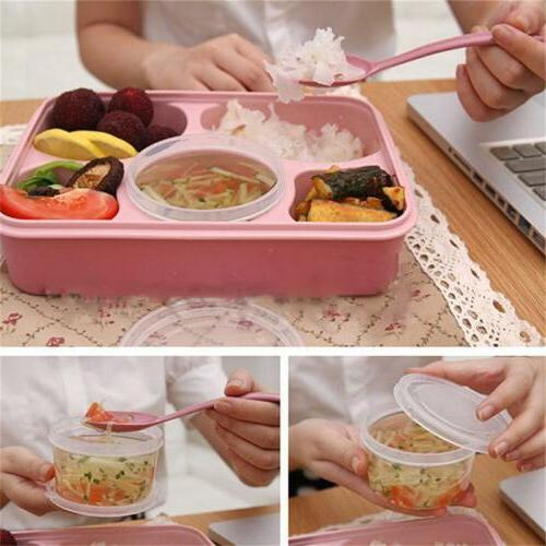 Microwave Bento Lunch Picnic Food Box For Q