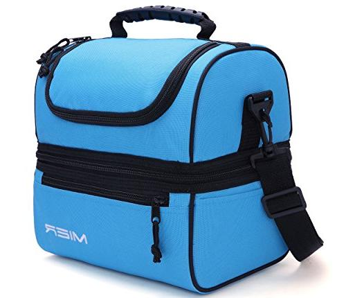mier adult lunch box blue insulated bag large cooler tote me