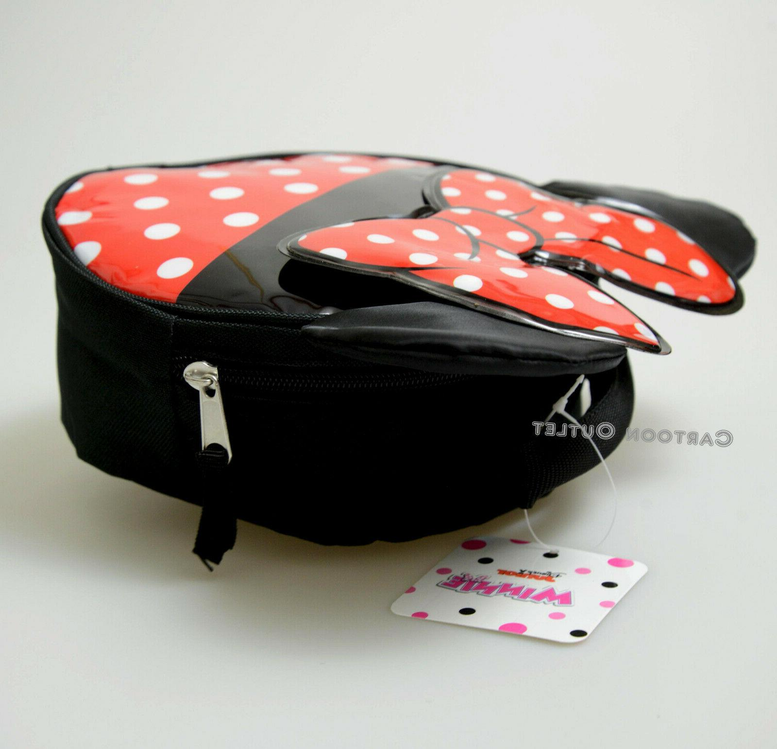 MINNIE INSULATED LUNCH BOX SACK TRAVEL POLKA DOTS