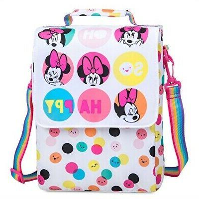 minnie mouse polka dot lunch tote white