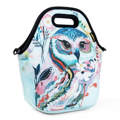 Neoprene Insulated for Women Girls Large Food Bag Lunch Box Tote