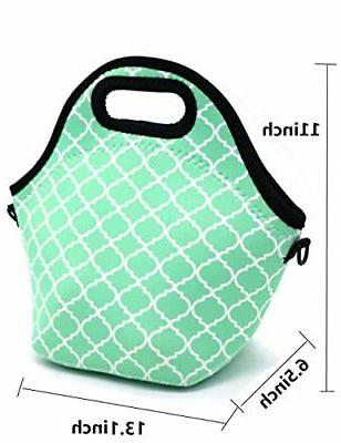 Orchidtent Neoprene Portable Lunch Bag Case Tote