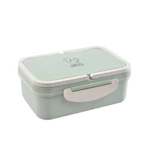 NEW Wheat Straw Microwave Bento Food Container