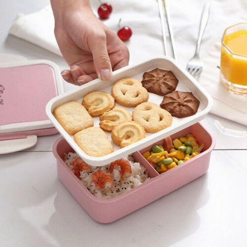 NEW Straw Microwave Bento Food Container Storage
