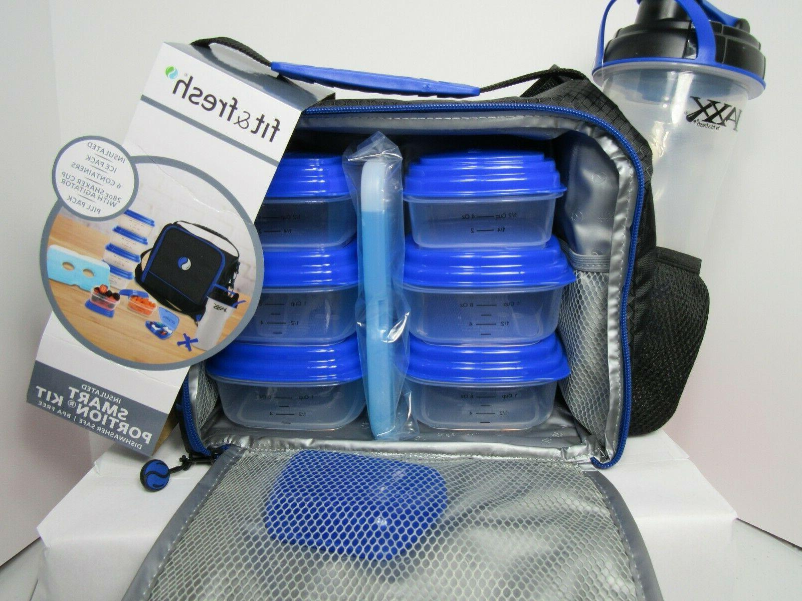 New  Fit and Fresh Jaxx FitPak Insulated Cooler Lunch Box