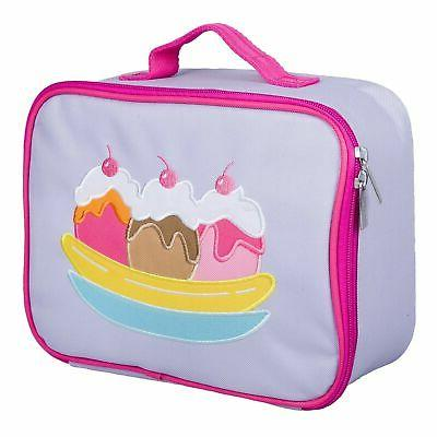 olive kids ice cream embroidered lunch box