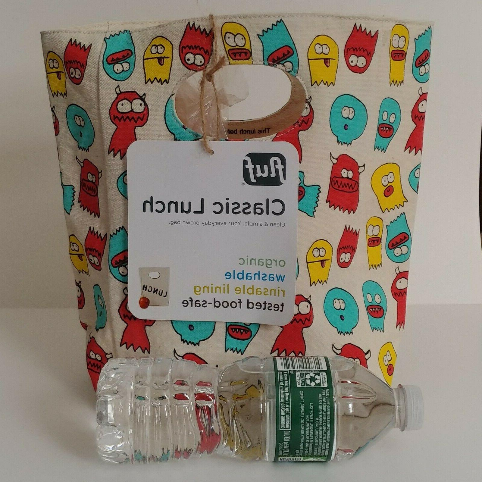 Fluf Organic Canvas Lunch Bag Box Jelly Ghosts