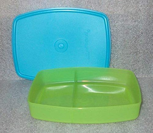 packette divided lunch container aqua