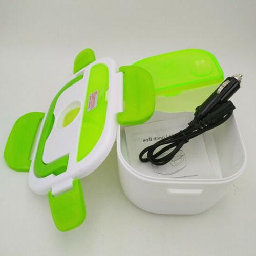 Portable Car Electric Box Heated Compact Bento Food New