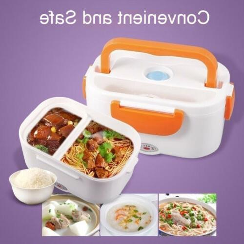 Portable Car Electric Lunch Box Compact Bento Food New