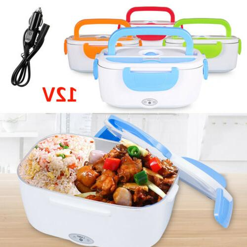 Portable 12V Car Adapter Electric Box Compact Bento Food
