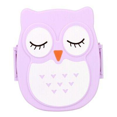 Portable Cartoon Owl Lunch Box Food Microwave Storage Container US