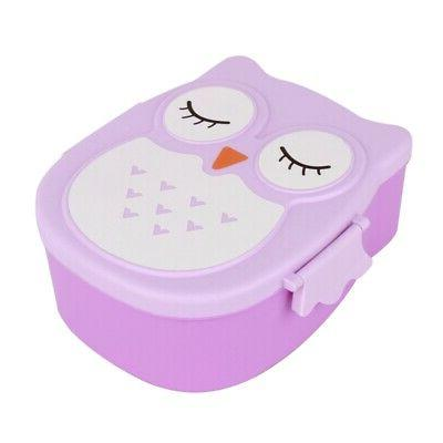 portable cartoon owl lunch box food safe