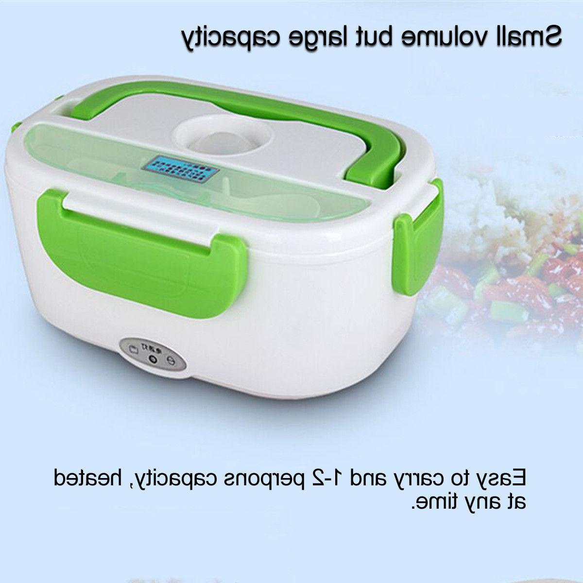 Portable Plug Heating Lunch Box Bento Travel Food