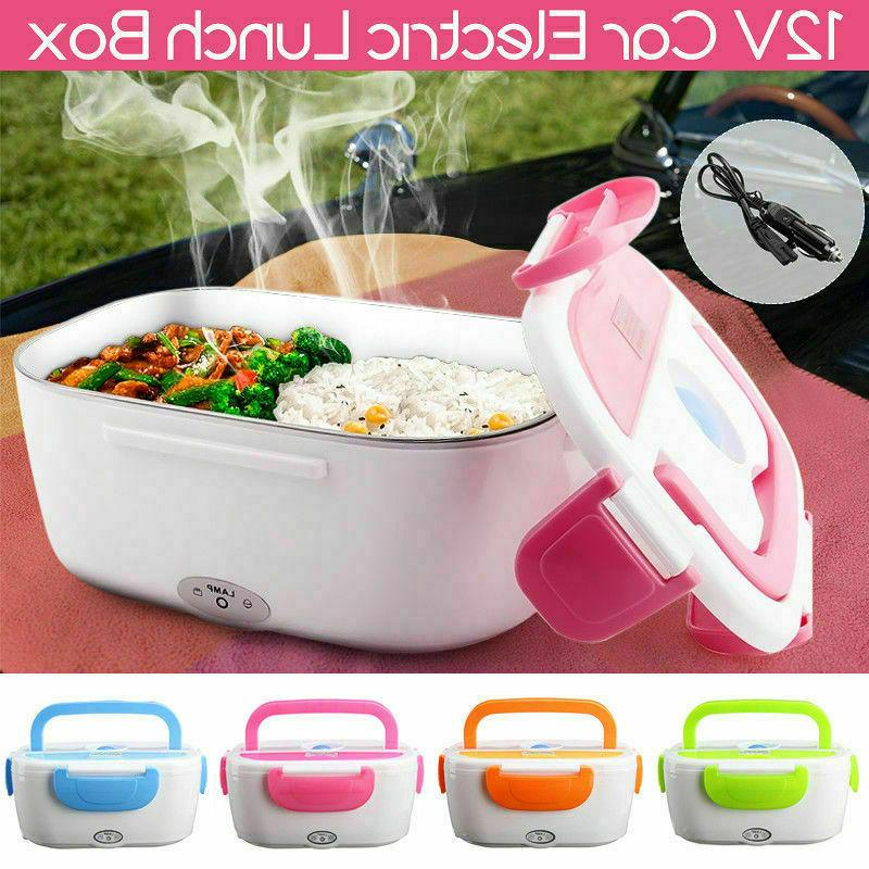 Portable Lunch Compact Bento Food Warmer 12V Car Adapter