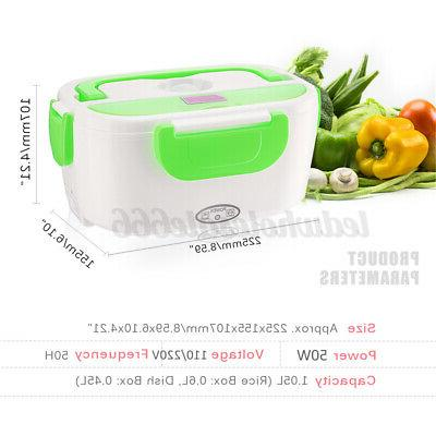 Portable Electric US Heating Lunch Box Travel Food Warmer 110V