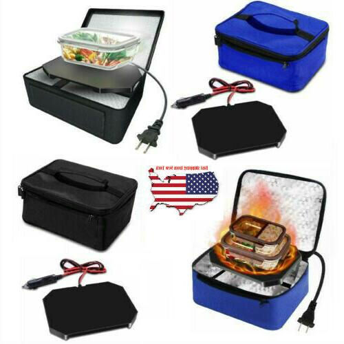Portable Food Warmers Heater Box Oven 12V Car Office