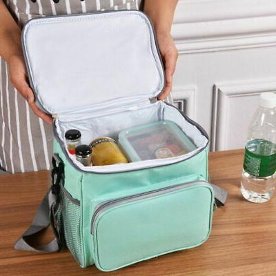 Large Insulated Lunch Bag for Thermal Cooler Outdoor Lunch B