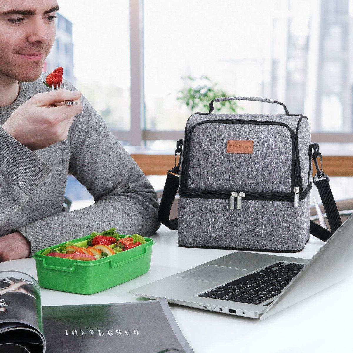 Portable Lunch Bag Travel Box Tote Men