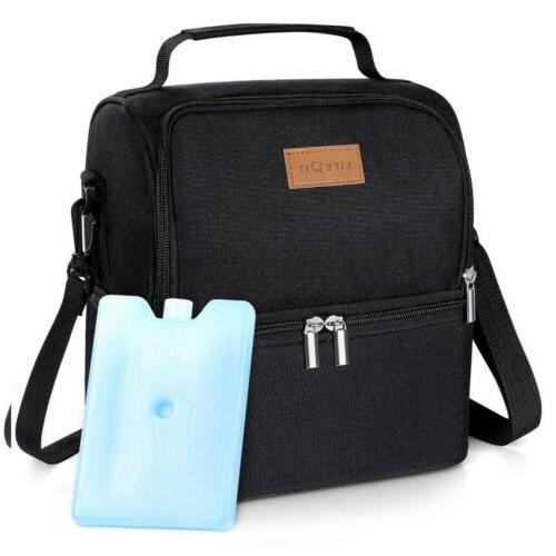 Portable Insulated Bag Travel Lunch Box for Men