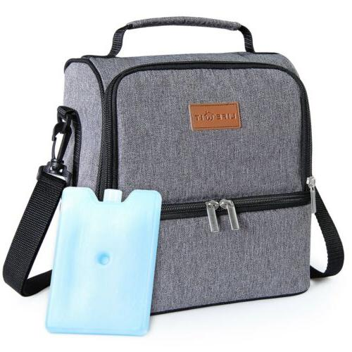 Portable Bag Picnic Lunch Box Tote for Women Men