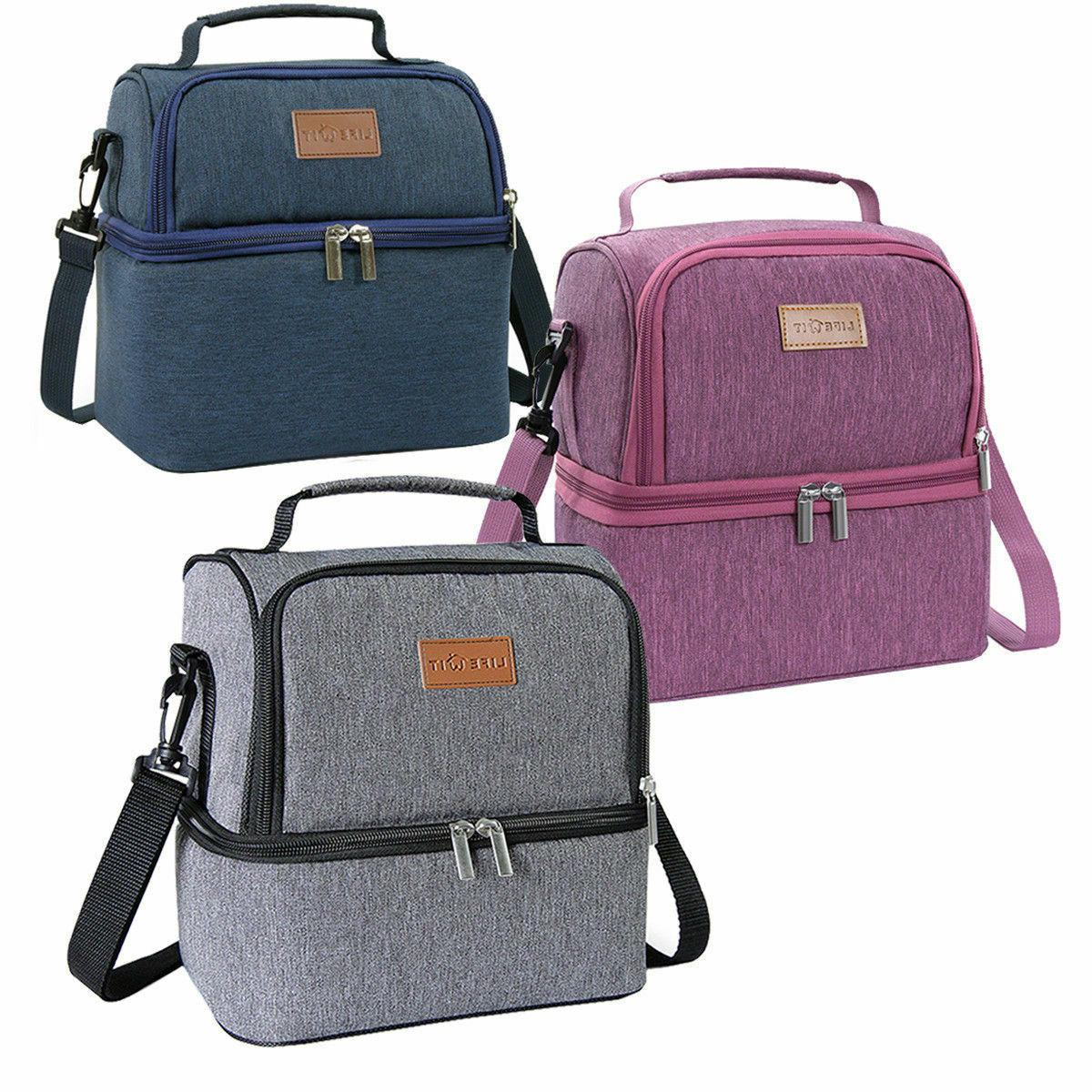 portable thermal insulated lunch bag travel picnic