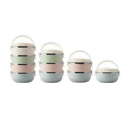 Stainless Steel Thermal Insulated Lunch Boxes 1/2/3/4Layer B