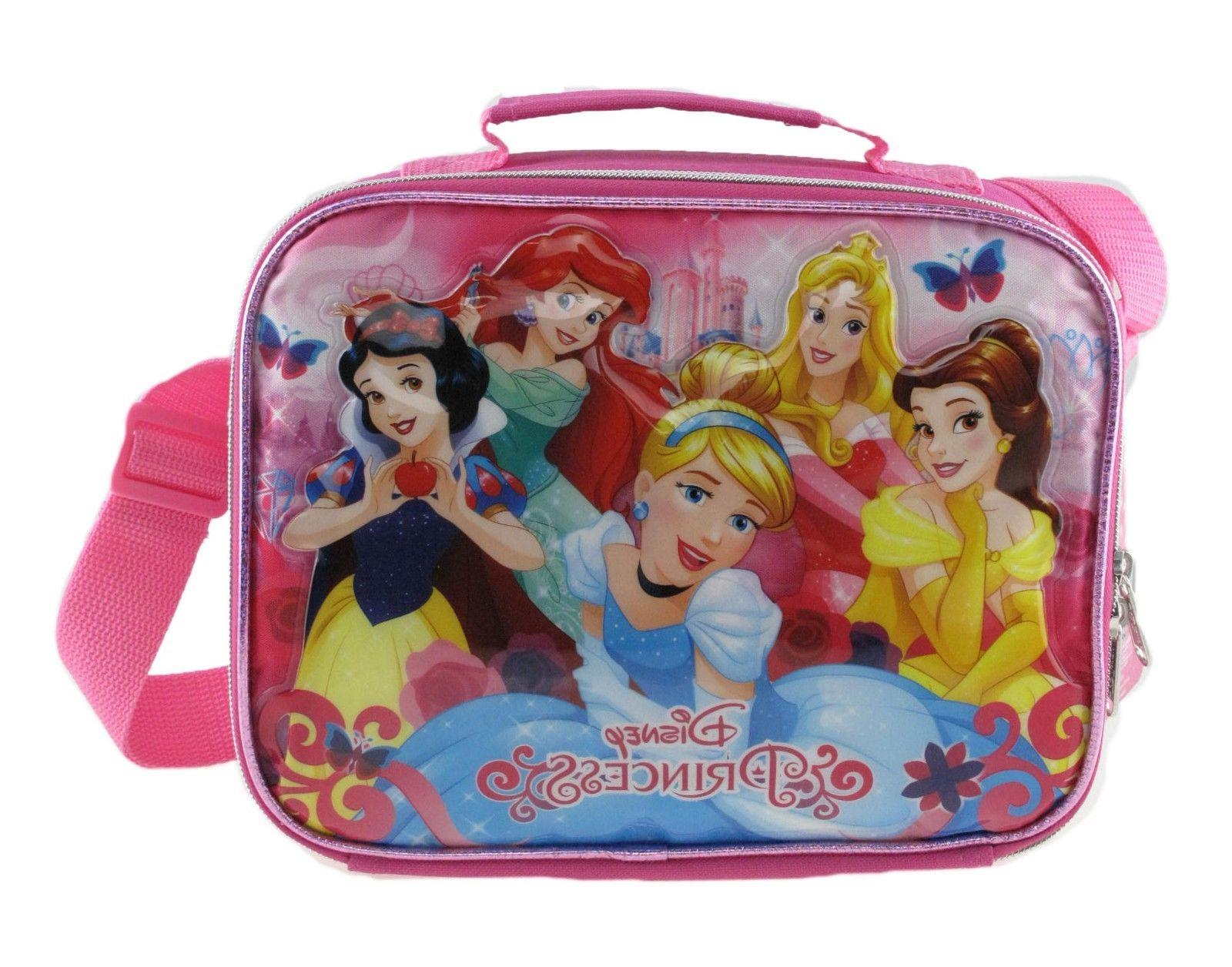 princess insulated lunch bag with shoulder strap