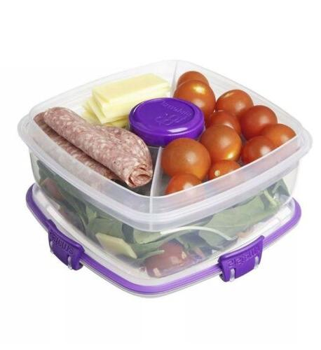 Sistema Salad To 1.1L Lunch Box Removable Tray