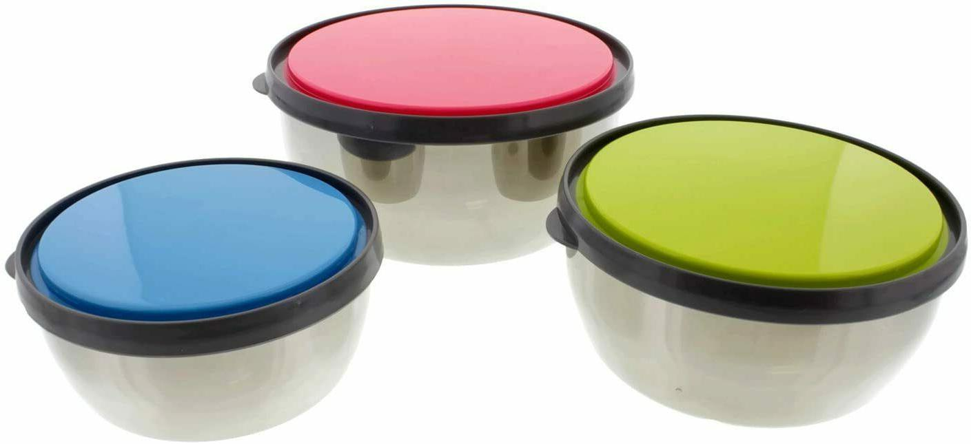 Set of Stainless Steel Bowls Lunch w/