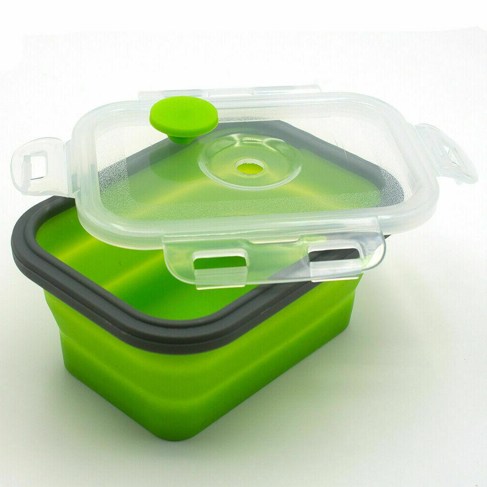 Silicone Portable Lunch Boxes Folding Collapsible