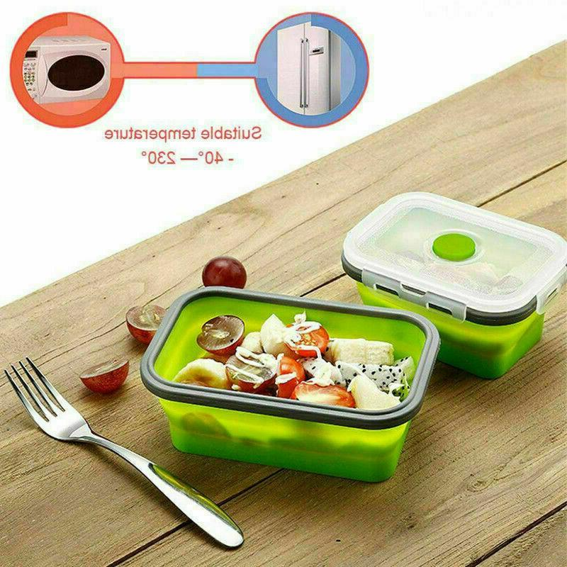 Silicone Lunch Boxes Bowl Folding Collapsible
