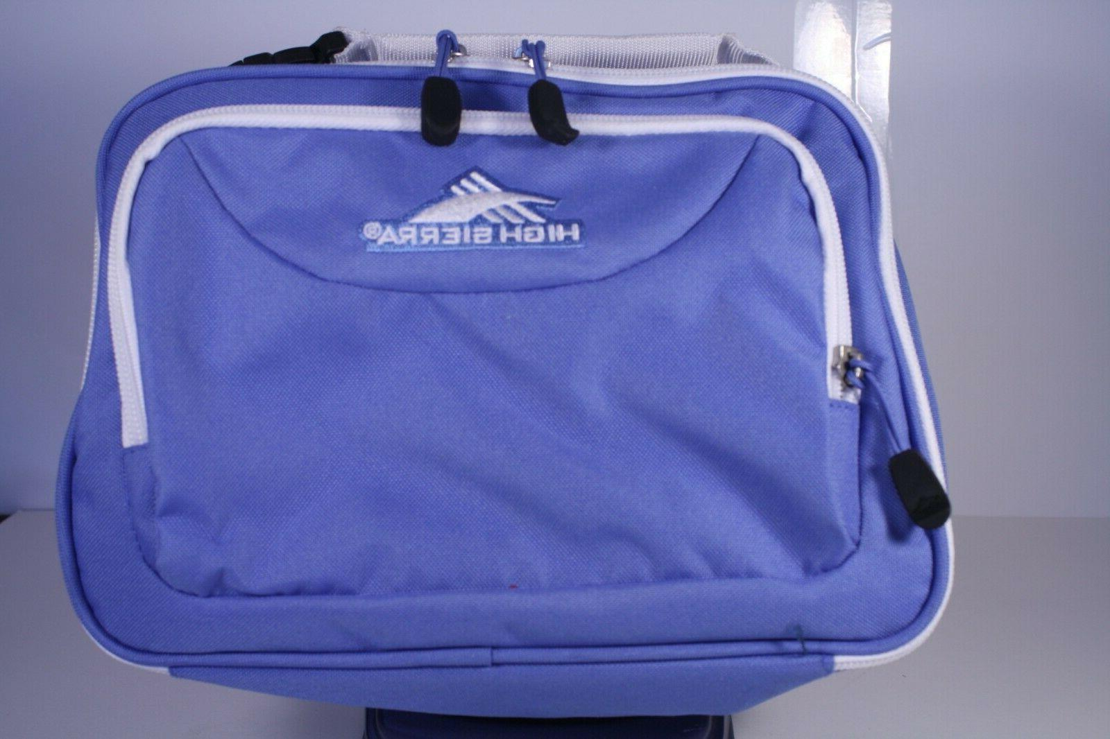 single compartment lunch bag blue new